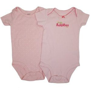 Carter's Baby Girl Pink Graphic Bodysuits Set